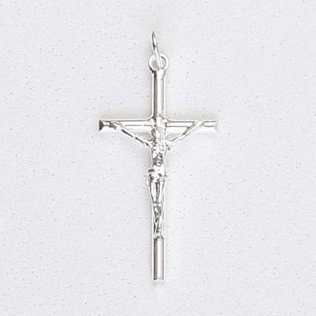 Colgante plata cruz con Cristo
