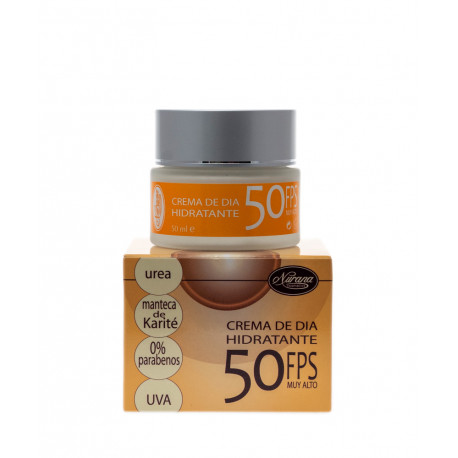 Crema hidratante Manteca de Karité FPS 50.