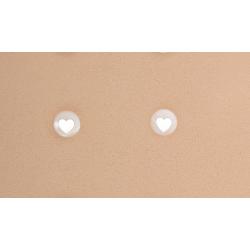 Pendientes Nácar Corazón Plata Ley