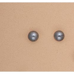 Pendientes Perla Gris 8mm Plata Ley