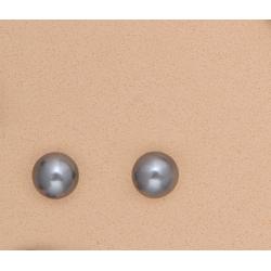 Pendientes Perla Gris 10mm Plata Ley