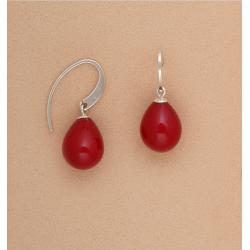 pendientes-plata-perla-roja-oasis-venta-directa