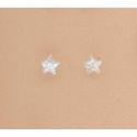 Pendientes Plata Ley Estrella Circonita Blanca