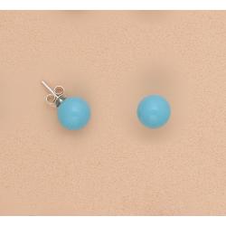 Pendientes-bola-turquesa-10mm-plata-ley-oasis-venta-directa