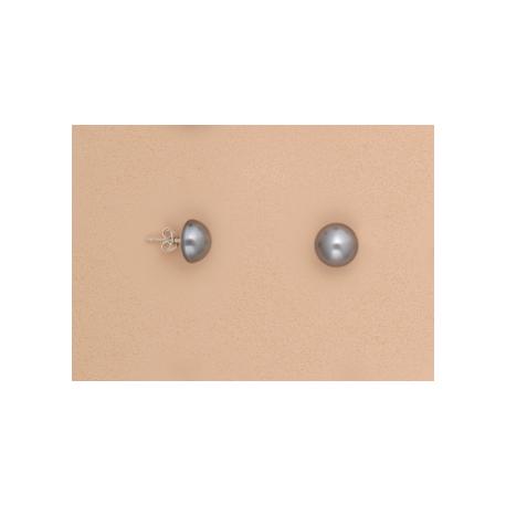 pendientes-media-perla-gris-10mm-plata-de-ley-oasis-venta-directa
