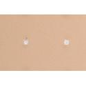 Pendientes Circonita Cuadrada Blanca Plata de Ley