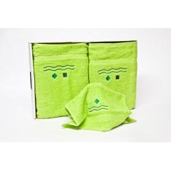 Juego de tres toallas 100% algodón